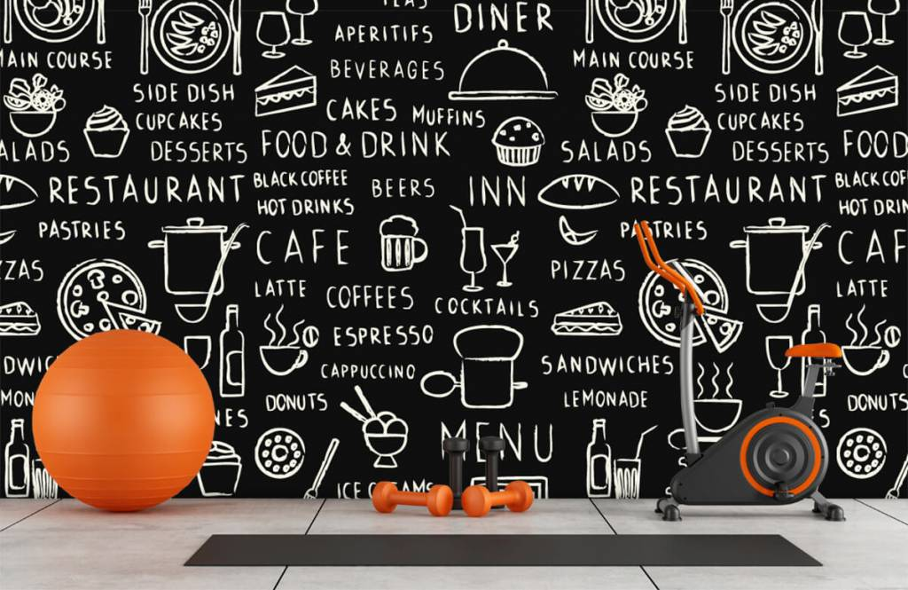 Tekst behang - Restaurant teksten - Keuken 8