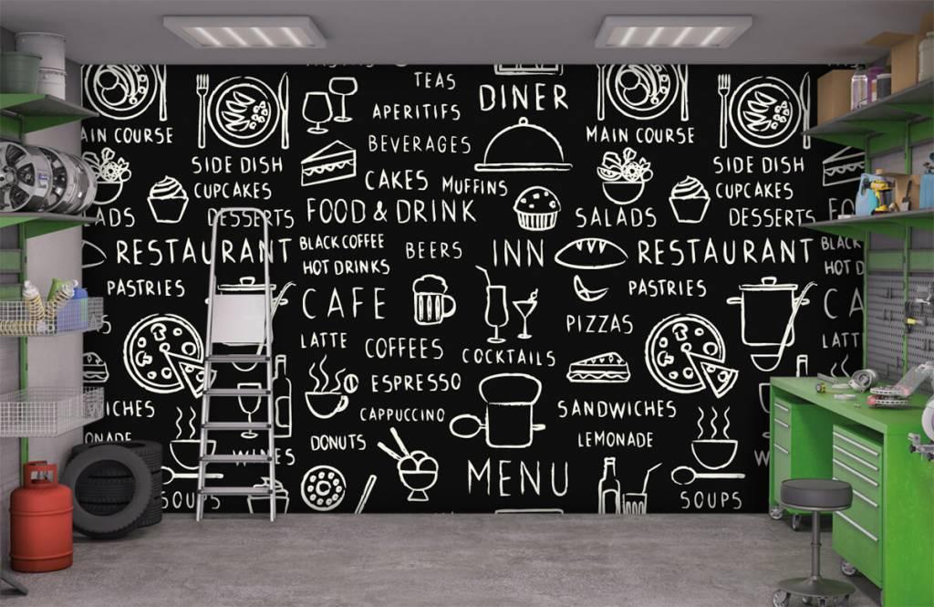 Tekst behang - Restaurant teksten - Keuken 9