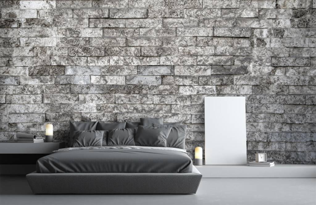 Steen behang - Robuuste stenen - Garage 3