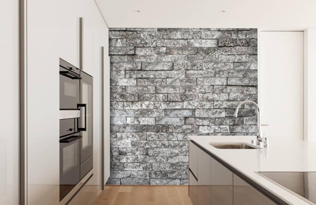 Steen behang - Robuuste stenen - Garage 4