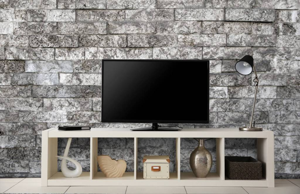 Steen behang - Robuuste stenen - Garage 5