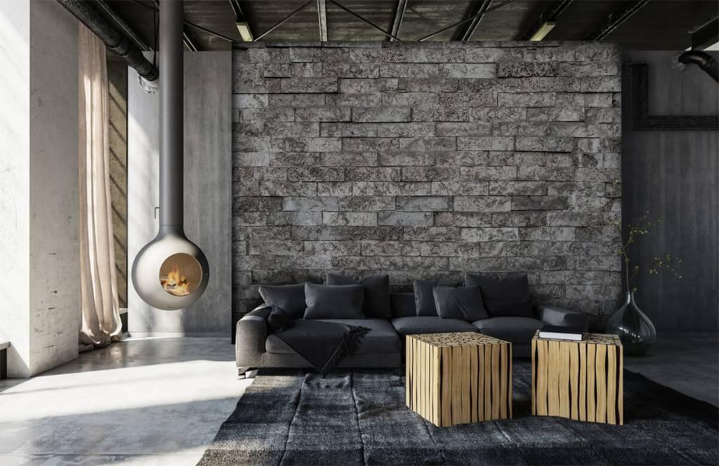 Steen behang - Robuuste stenen - Garage 7