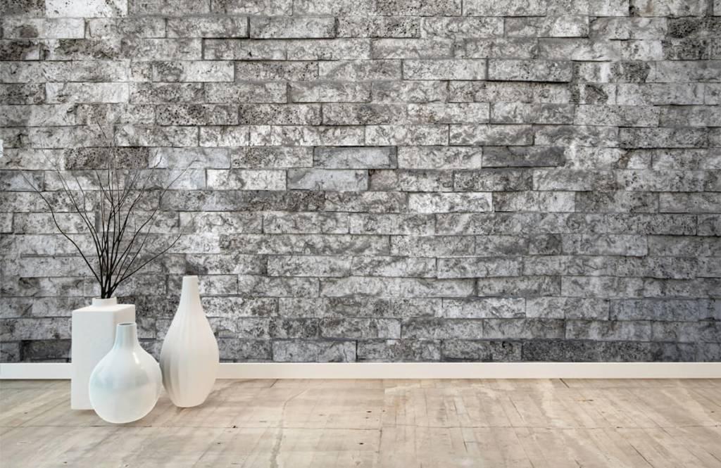 Steen behang - Robuuste stenen - Garage 8