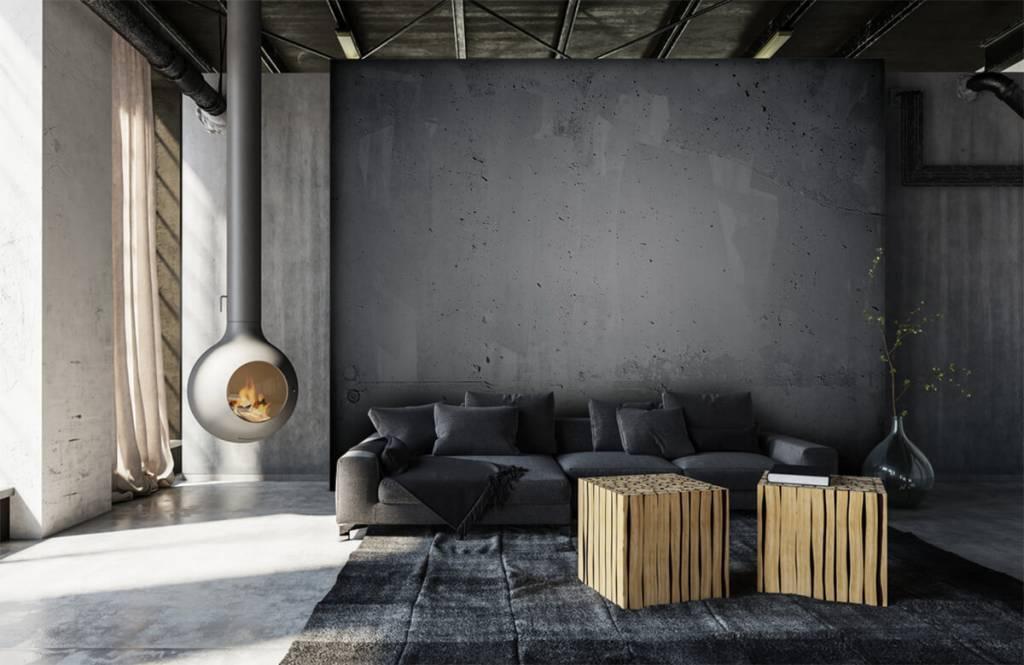 Betonlook behang - Ruw beton - Directie 6
