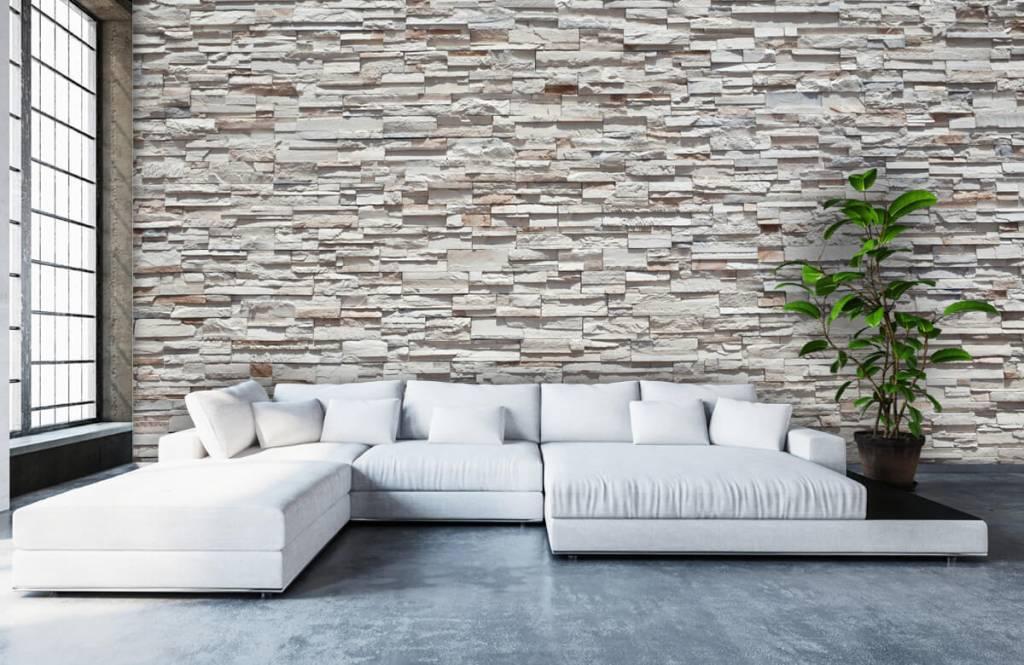 Steen behang - Ruwe stenen - Slaapkamer 1