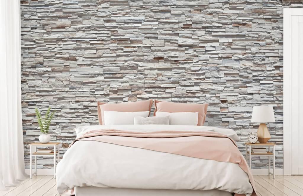 Steen behang - Ruwe stenen - Slaapkamer 2