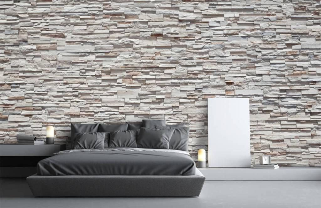 Steen behang - Ruwe stenen - Slaapkamer 3