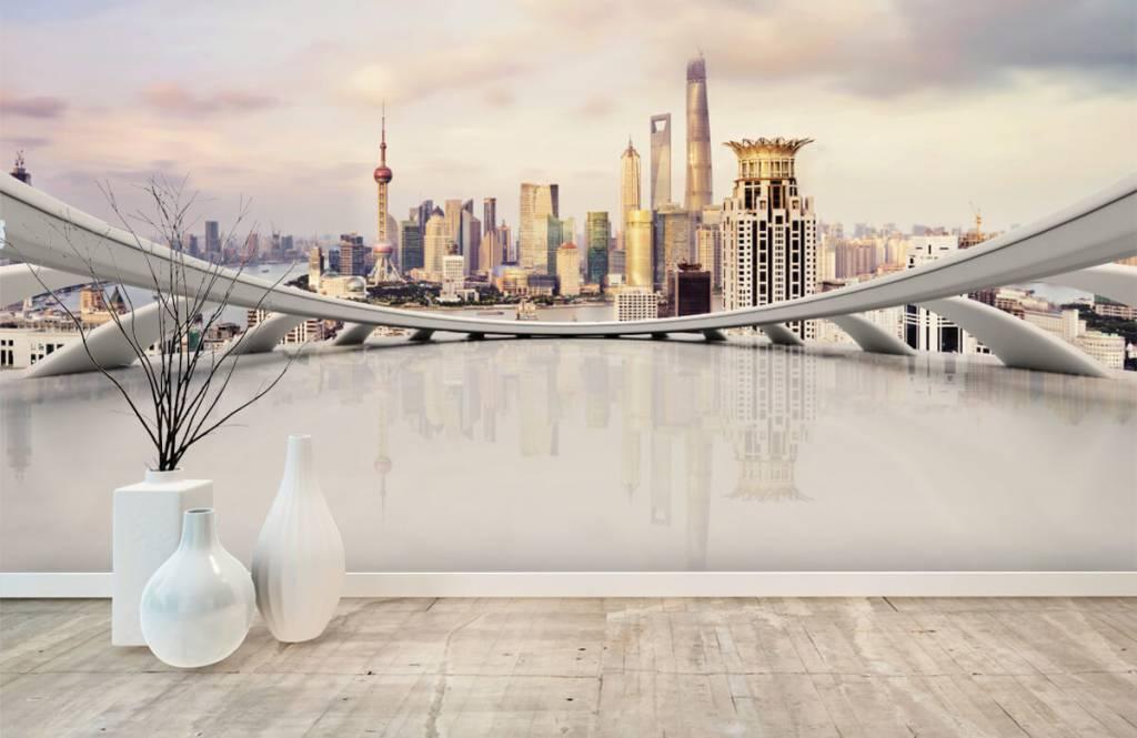 Skylines - Skyline van Shanghai - Computerruimte 2
