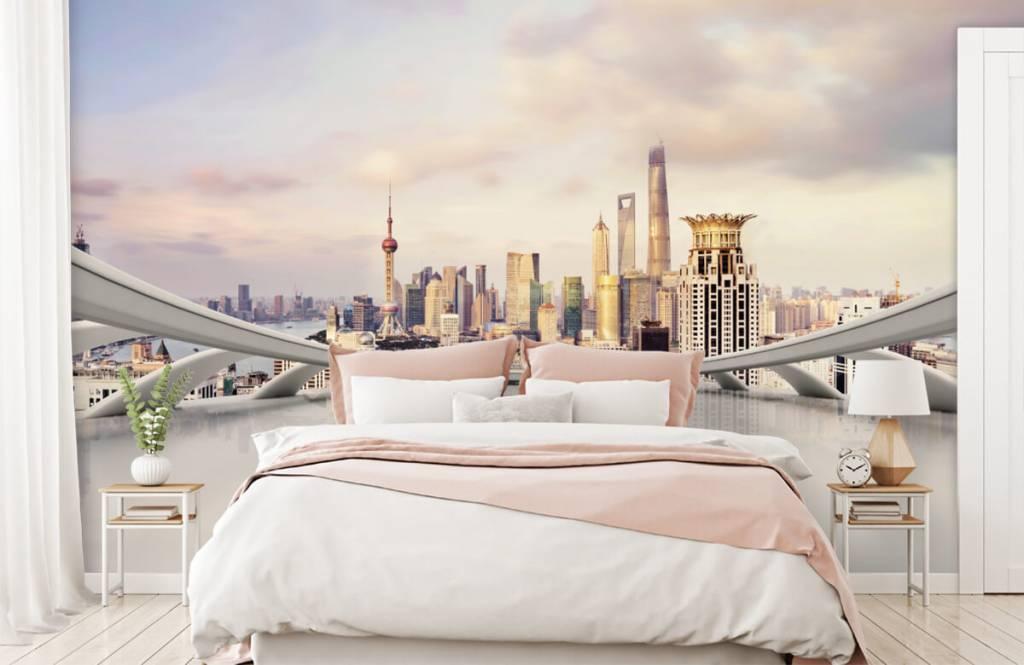 Skylines - Skyline van Shanghai - Computerruimte 3