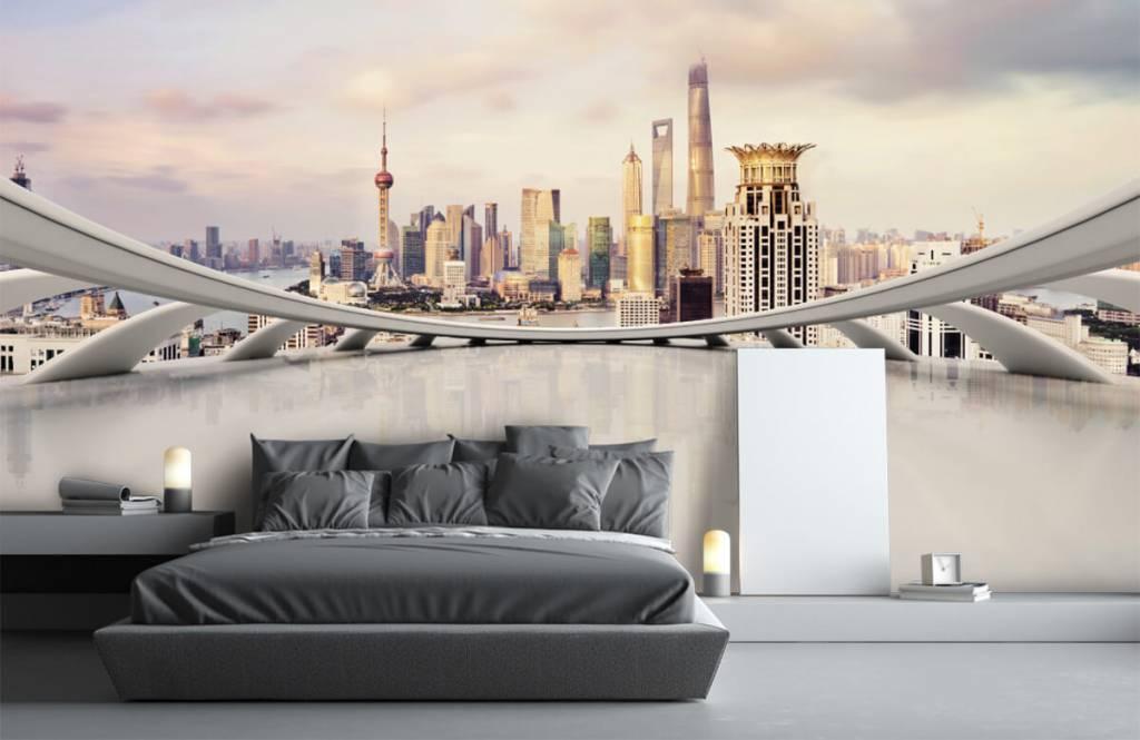 Skylines - Skyline van Shanghai - Computerruimte 4