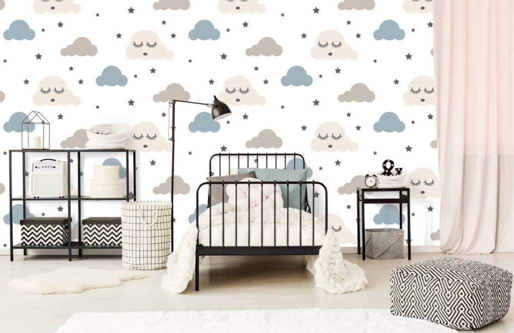 Baby behang - Slapende wolkjes - Babykamer 2