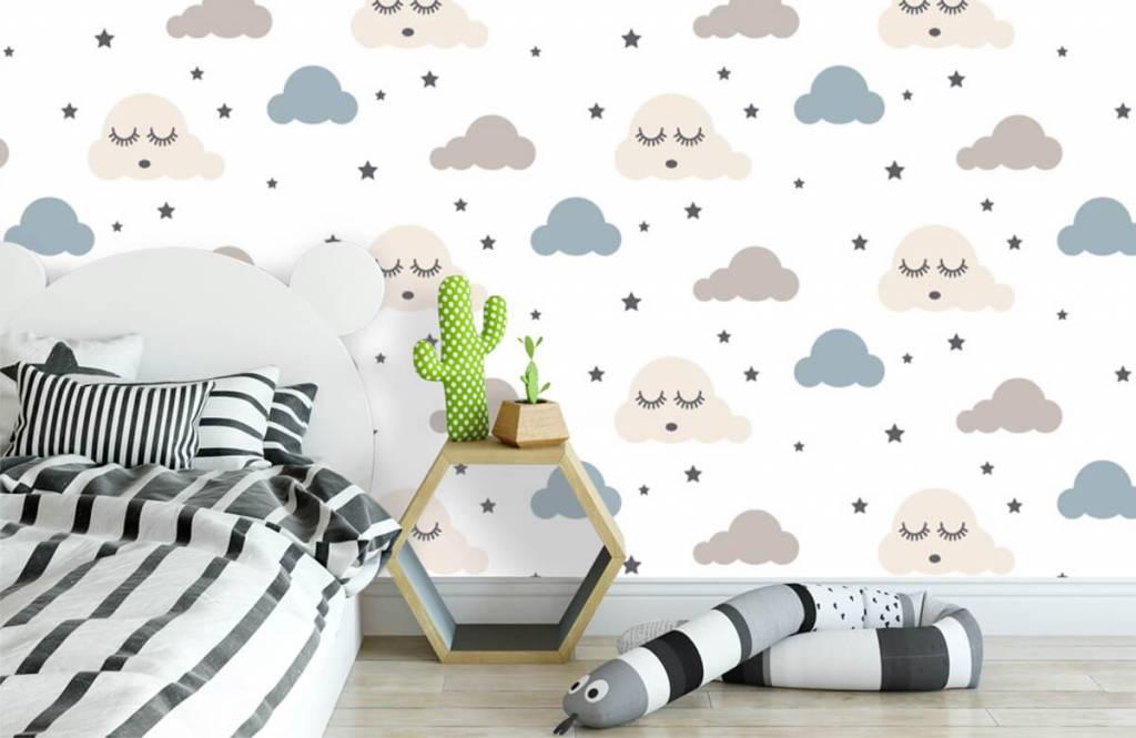 Baby behang - Slapende wolkjes - Babykamer 3