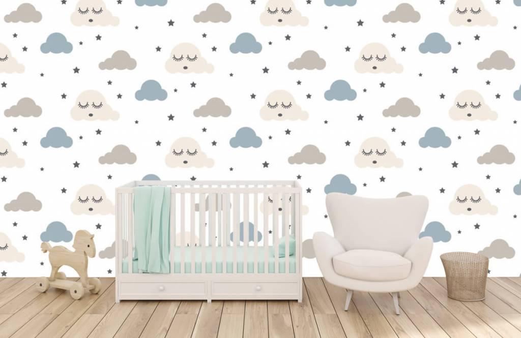 Baby behang - Slapende wolkjes - Babykamer 6
