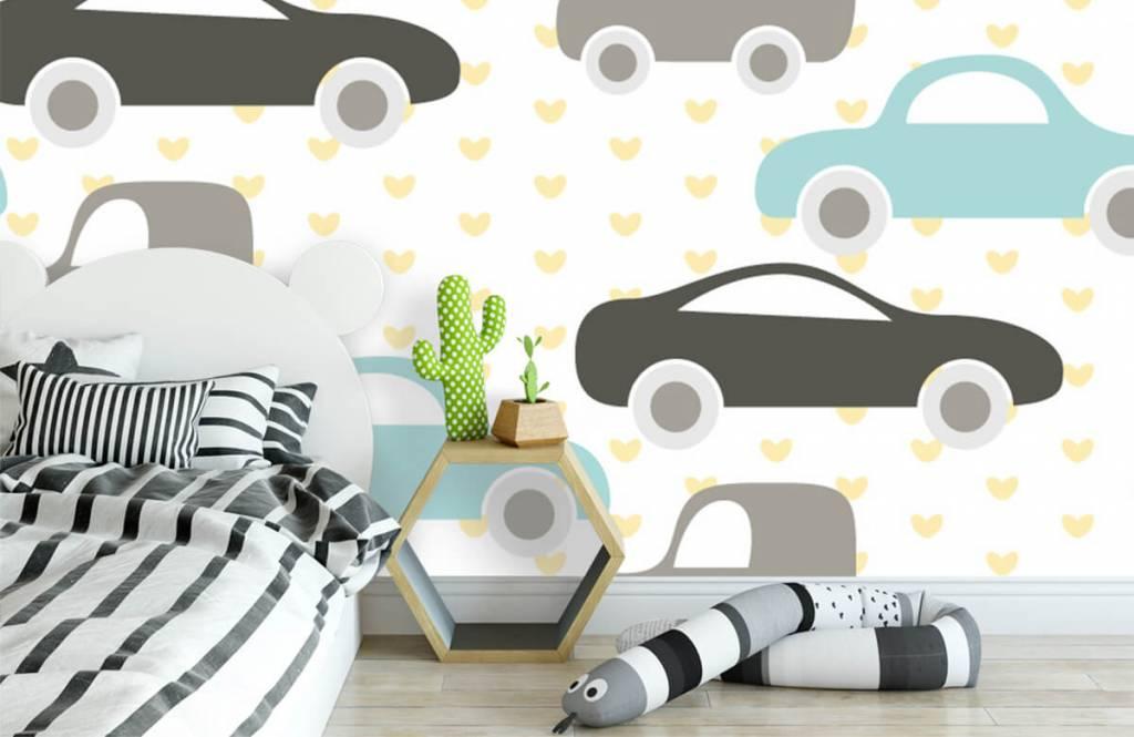 Baby behang - Speelgoedauto's - Babykamer 1