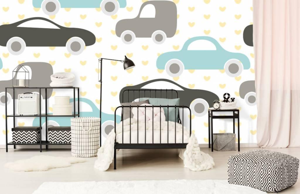 Baby behang - Speelgoedauto's - Babykamer 2