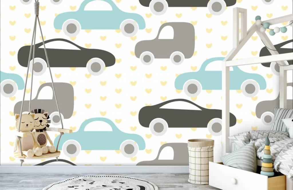Baby behang - Speelgoedauto's - Babykamer 3