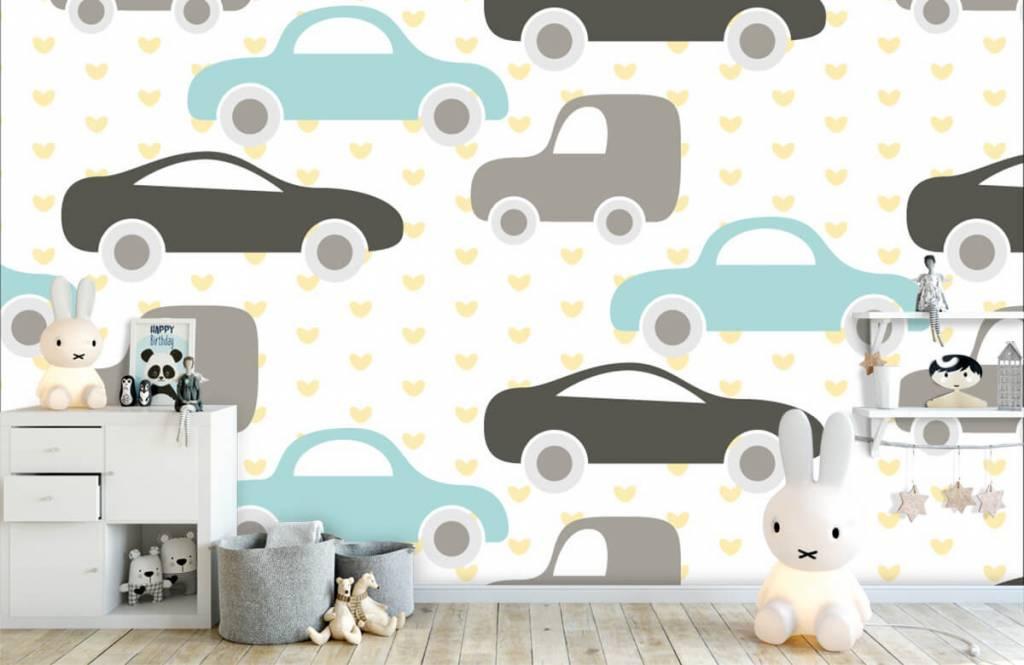 Baby behang - Speelgoedauto's - Babykamer 4
