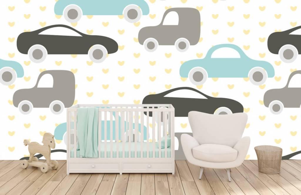 Baby behang - Speelgoedauto's - Babykamer 5