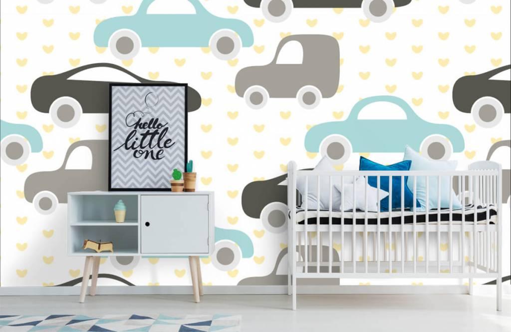Baby behang - Speelgoedauto's - Babykamer 6