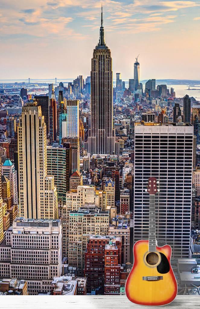 Steden behang - The Big Apple van bovenaf - Vergaderruimte 1