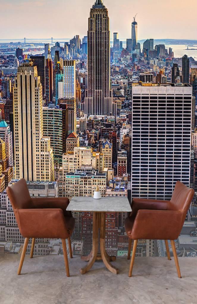 Steden behang - The Big Apple van bovenaf - Vergaderruimte 2