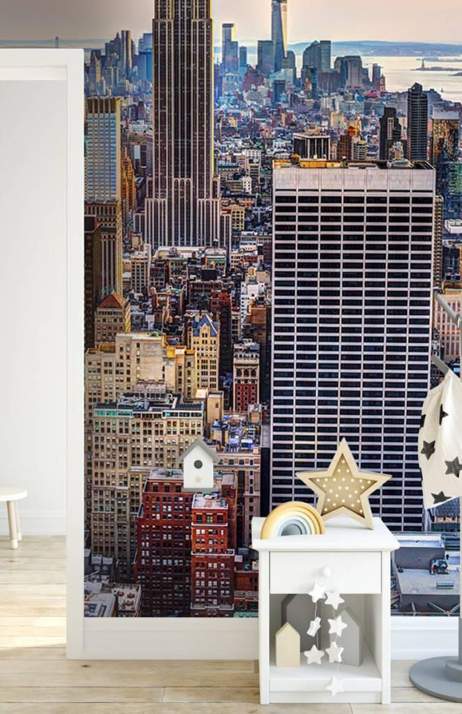 Steden behang - The Big Apple van bovenaf - Vergaderruimte 3