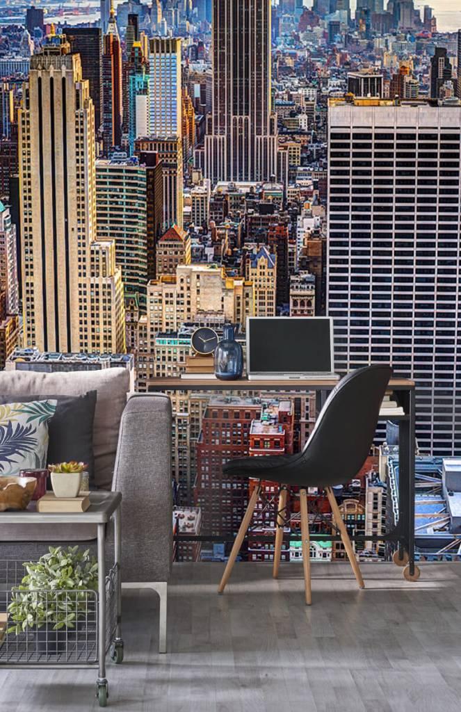 Steden behang - The Big Apple van bovenaf - Vergaderruimte 4