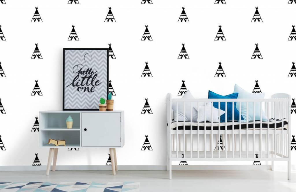 Overige - Tipi tentjes in zwart-wit - Kinderkamer 6