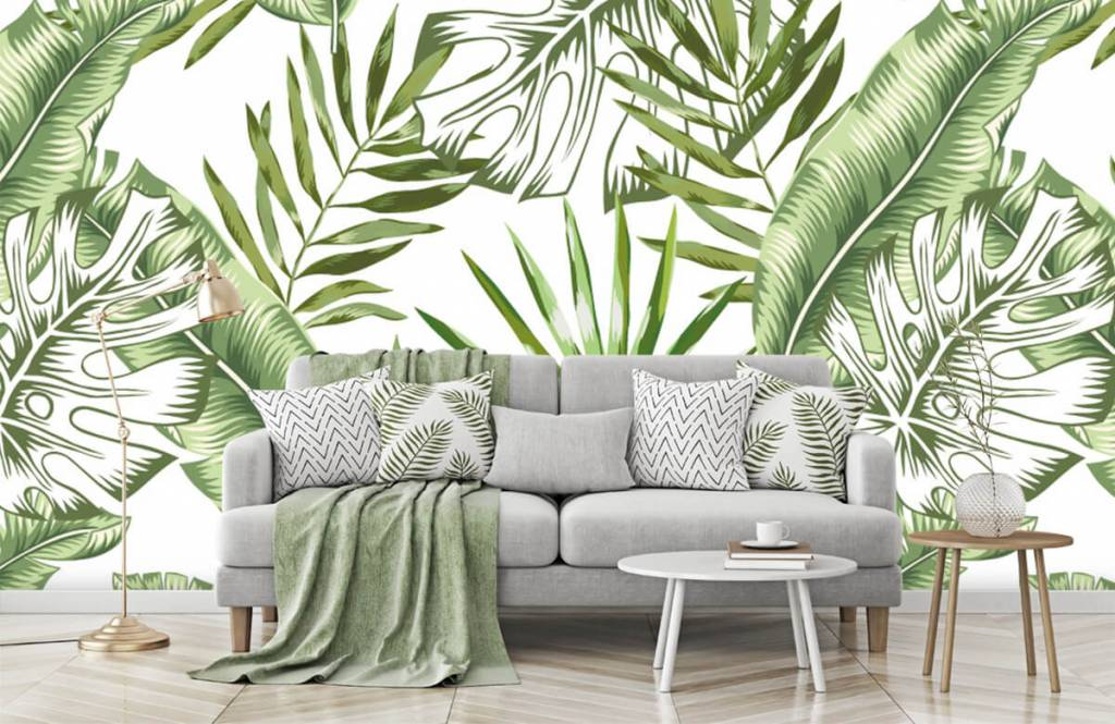 Jungle - Tropische bladeren - Showroom 1