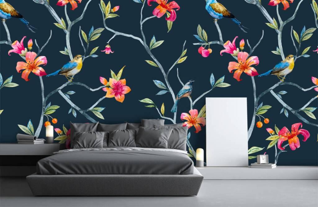 Overige - Tropische bloemen en vogels - Slaapkamer 1