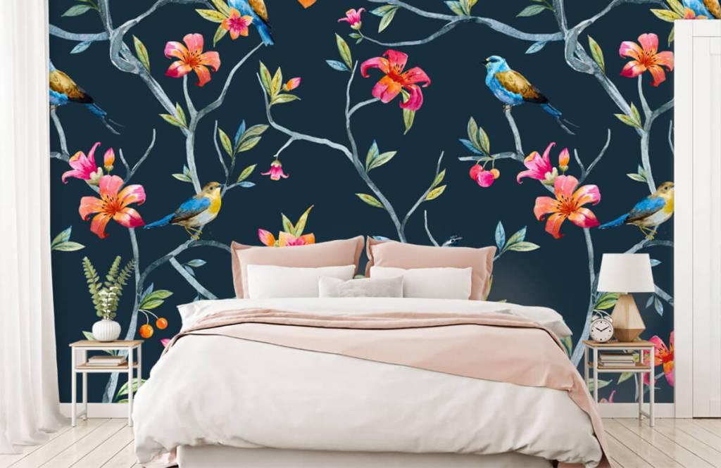 Overige - Tropische bloemen en vogels - Slaapkamer 2