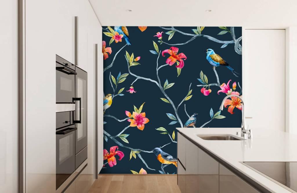 Overige - Tropische bloemen en vogels - Slaapkamer 3
