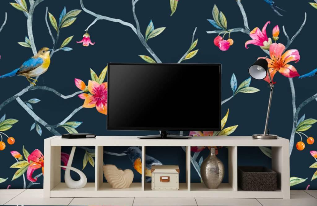 Overige - Tropische bloemen en vogels - Slaapkamer 4
