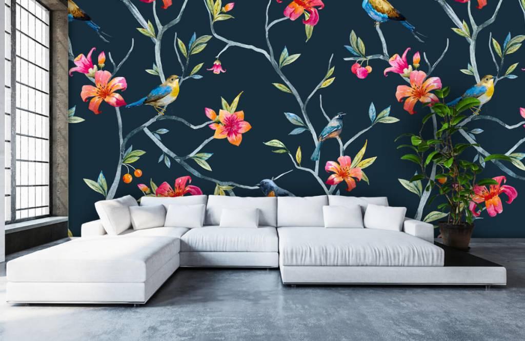 Overige - Tropische bloemen en vogels - Slaapkamer 5
