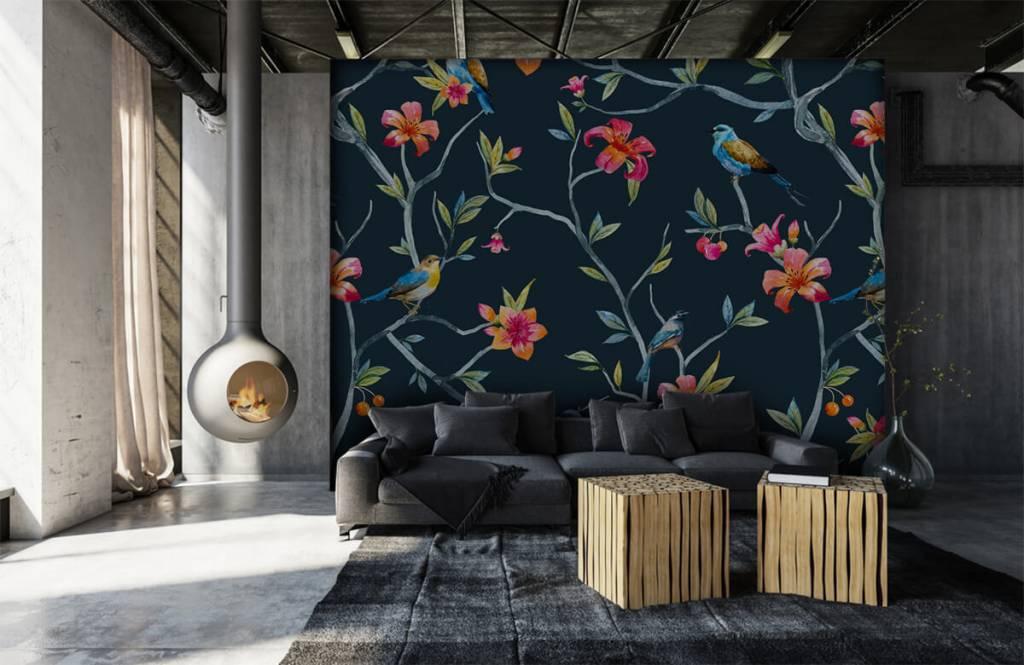 Overige - Tropische bloemen en vogels - Slaapkamer 6