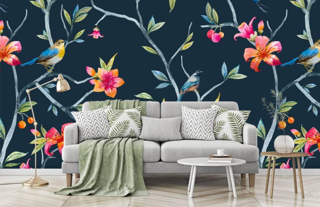 Overige - Tropische bloemen en vogels - Slaapkamer 7