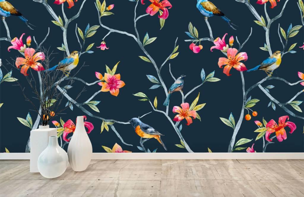 Overige - Tropische bloemen en vogels - Slaapkamer 8