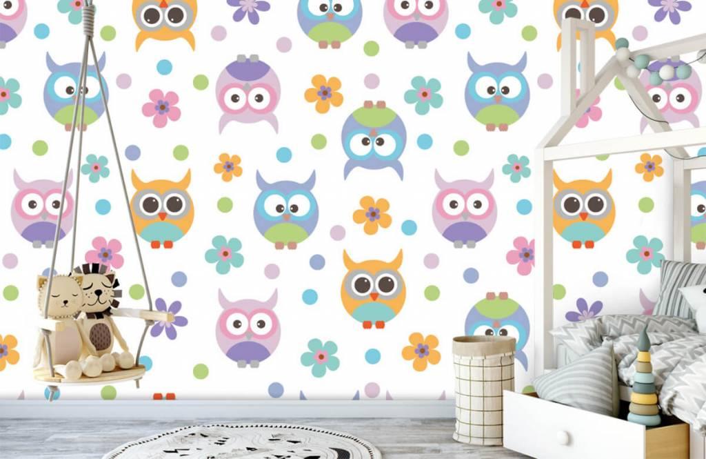 Overige - Behang met uiltjes - Kinderkamer 1