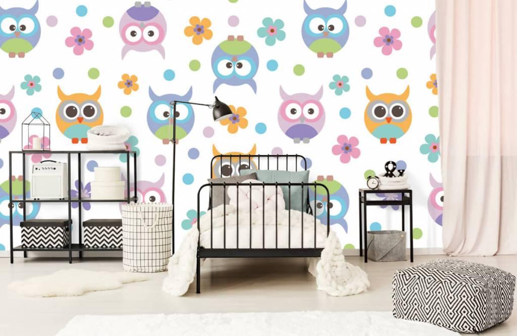 Overige - Behang met uiltjes - Kinderkamer 2