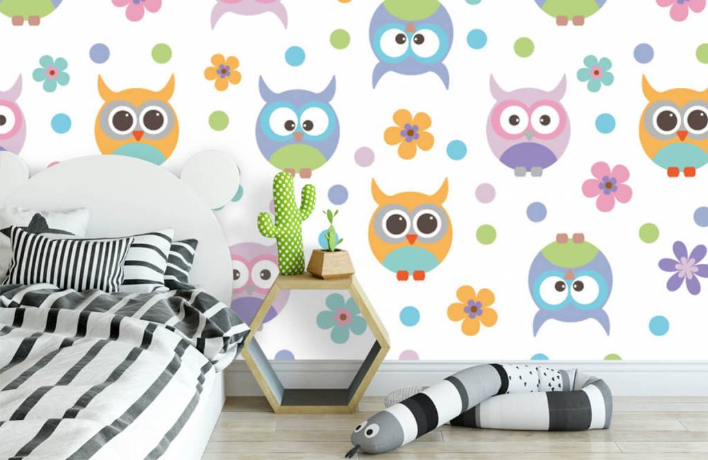 Overige - Behang met uiltjes - Kinderkamer 3