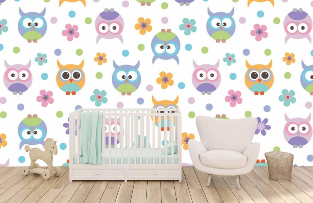 Overige - Behang met uiltjes - Kinderkamer 5