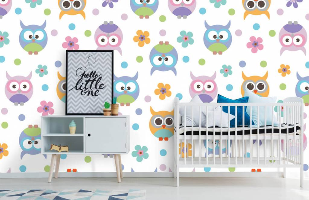 Overige - Behang met uiltjes - Kinderkamer 6