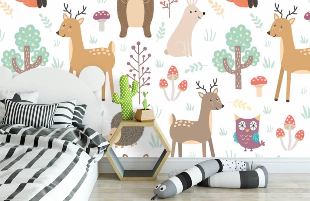 Kinderbehang - Verschillende dieren - Kinderkamer 1