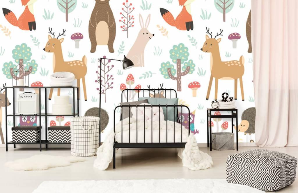 Kinderbehang - Verschillende dieren - Kinderkamer 2