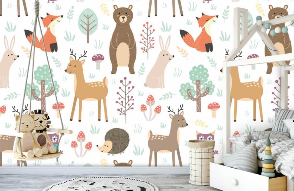 Kinderbehang - Verschillende dieren - Kinderkamer 3