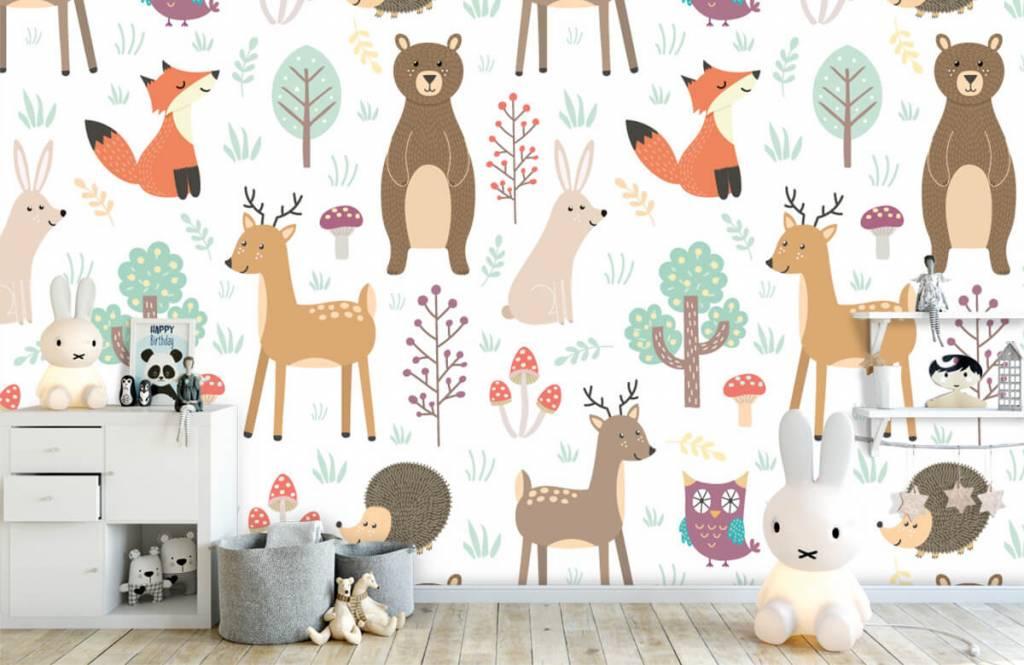 Kinderbehang - Verschillende dieren - Kinderkamer 4