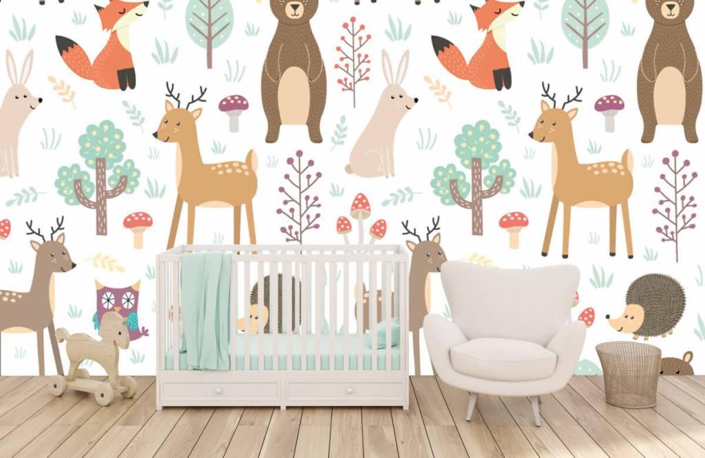 Kinderbehang - Verschillende dieren - Kinderkamer 5