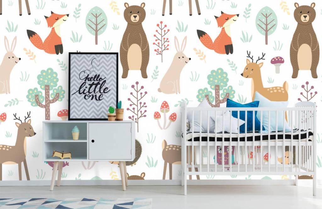 Kinderbehang - Verschillende dieren - Kinderkamer 6