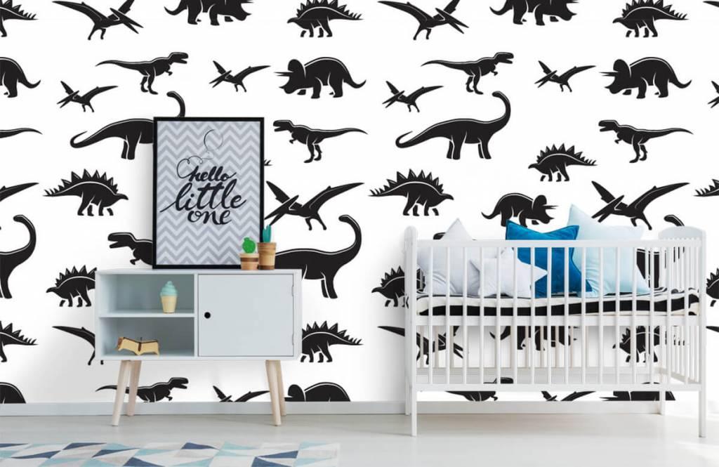 Dinosaurussen - Zwarte dino's - Kinderkamer 1