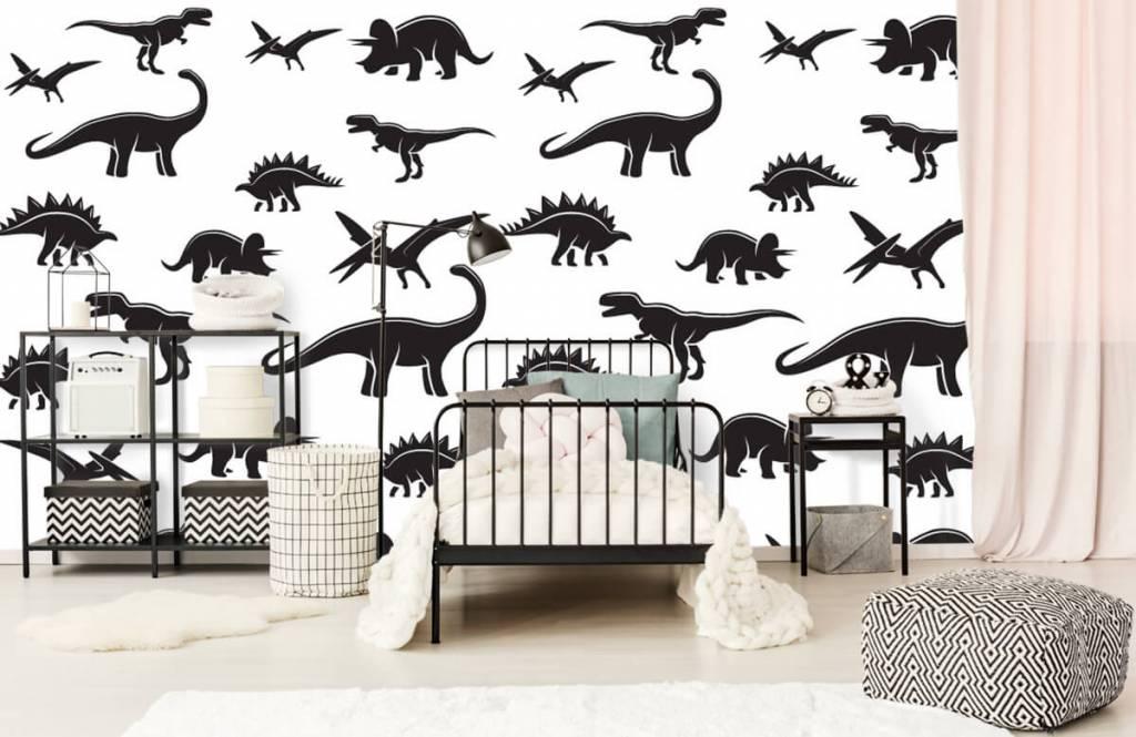 Dinosaurussen - Zwarte dino's - Kinderkamer 2